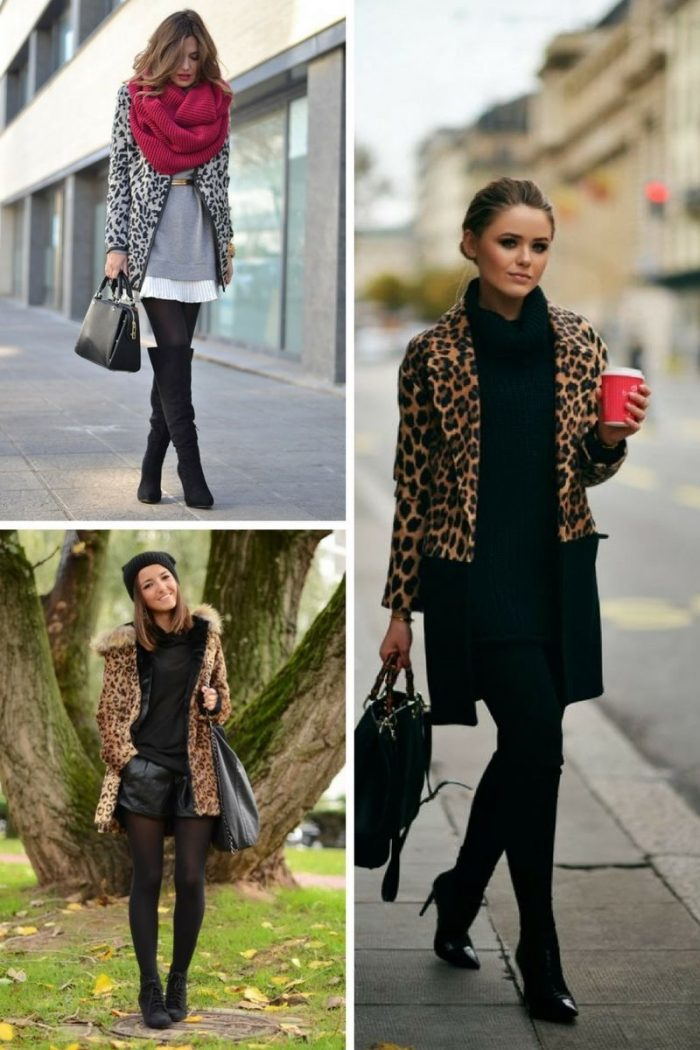 16 Damen Animal Print Mäntel